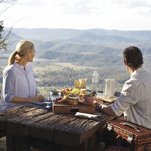 dining overlooking valley