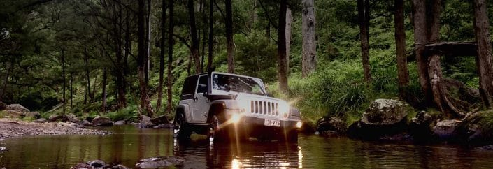 4WD in creek