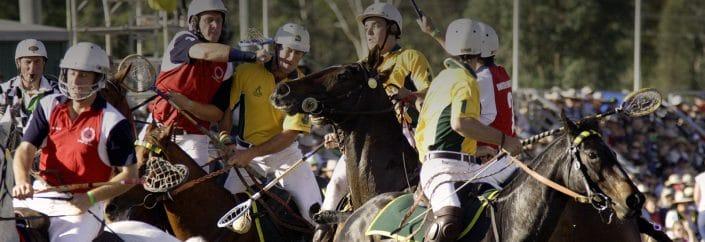 lacrosse on horses