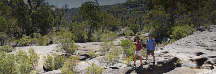 bushwalking rocks