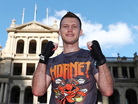 BRISBANE, AUSTRALIA - JUNE 29: Jeff Horn during a training session at Reddacliff Place on June 29, 2017 in Brisbane, Australia. (Photo by Chris Hyde/Getty Images)