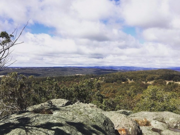photo taken from the lookout at Donnellys Castle near Stanthorpe