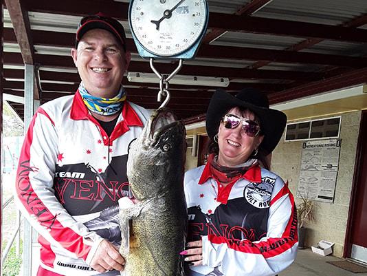 Murray Cod fish caught on Glenlyon Dam