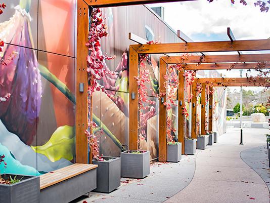 Wall art at GBART - Granite Belt Art and Craft Trail