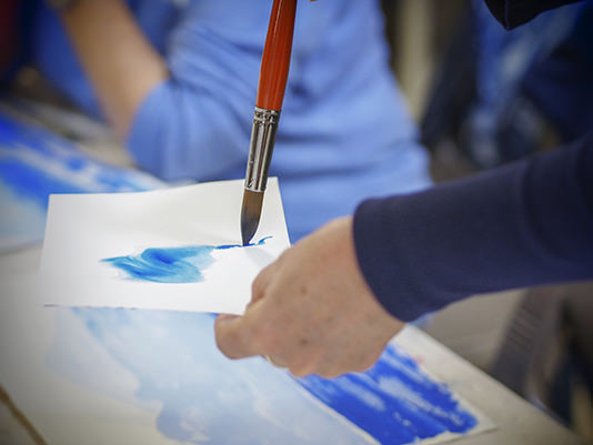 Painting at GBART - Granite Belt Art and Craft Trail