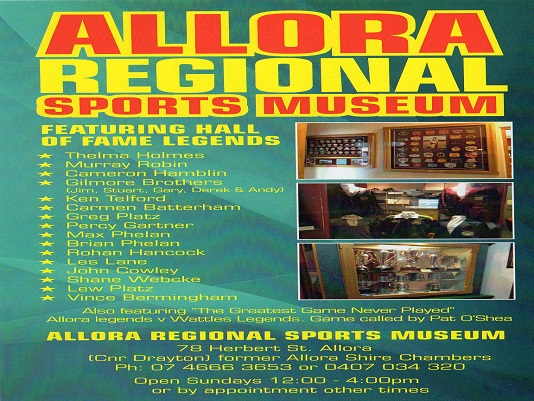 Allora Regional Sports Museum Hall of Fame