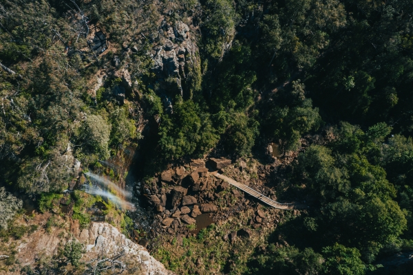 Aerial photo of Queen Mary Falls Circuit